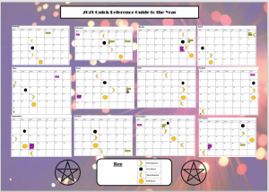 Free to download wiccan quick reference calendar