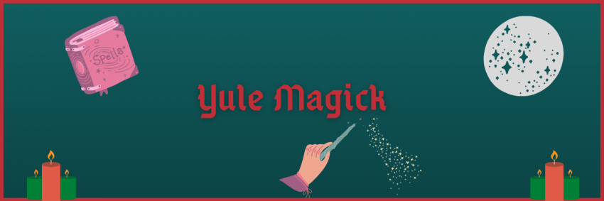 Hand holding magic wand, full moon and spell book