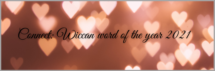 Connect in words on a background of rose gold hearts