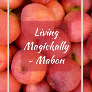 Mabon guidebook front cover. Apples.